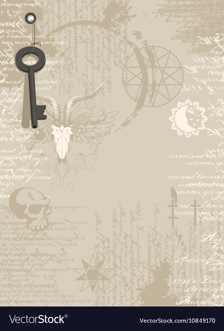 Background of the papyrus with occult symbols