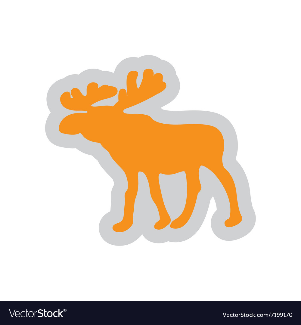 Flat web icon on white background Elk