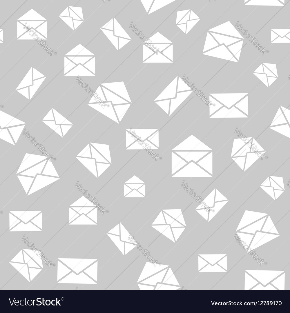 Seamless pattern with mail envelopes