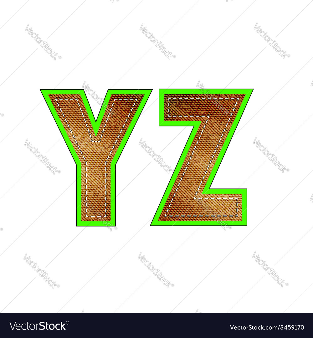 Set of Jeans Letters vector image