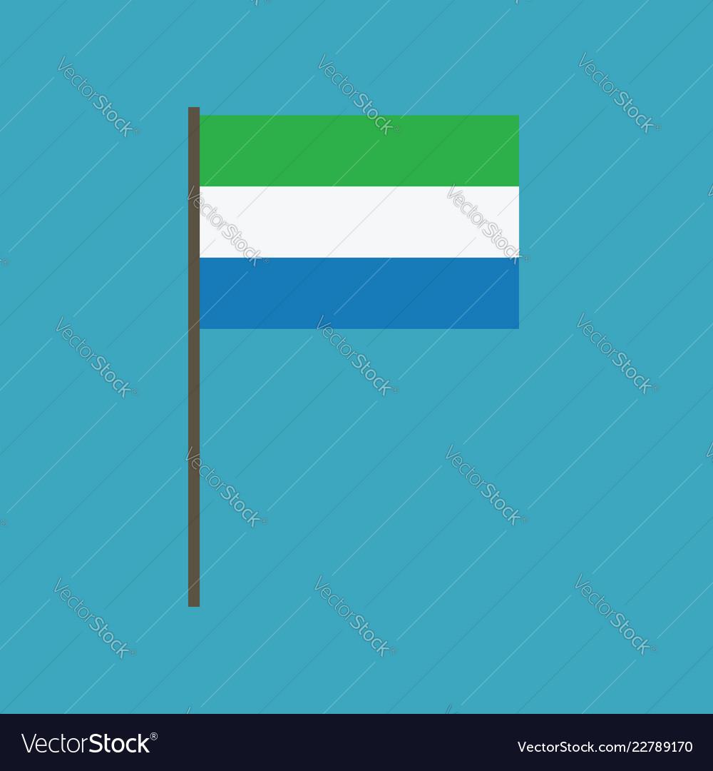 Sierra leone flag icon in flat design