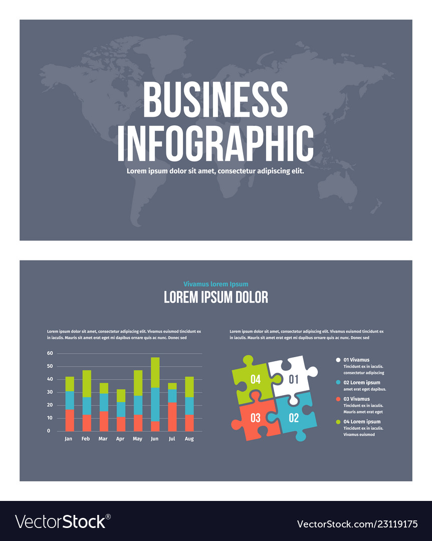 Business infographic presentation slides template