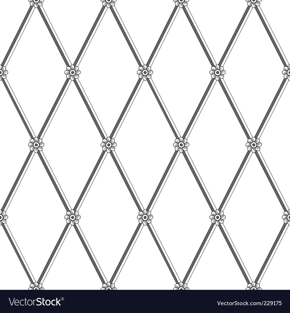 Daisy fence pattern vector image