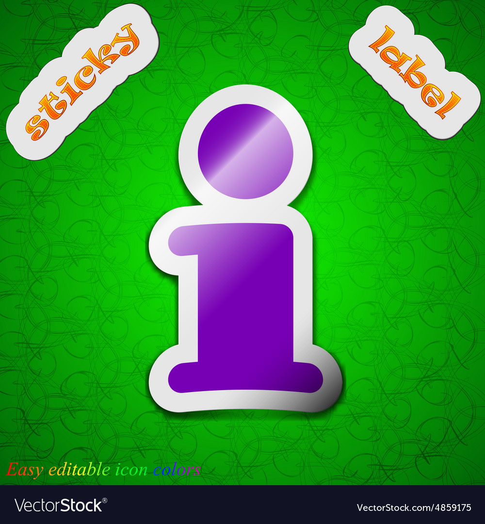 Information Info icon sign Symbol chic colored vector image