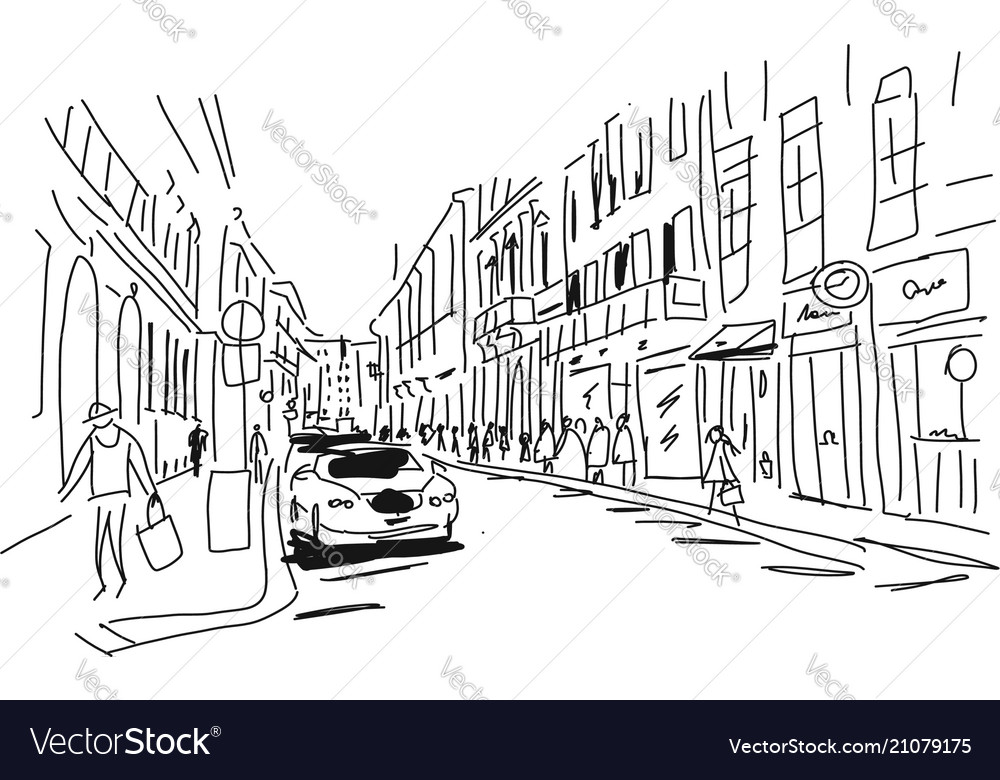 Street sketch for your design
