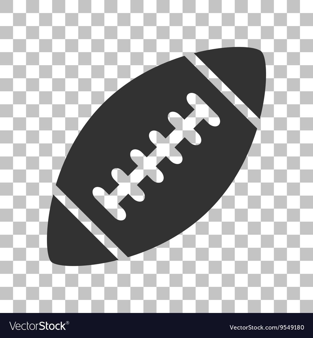 American simple football ball Dark gray icon on vector image