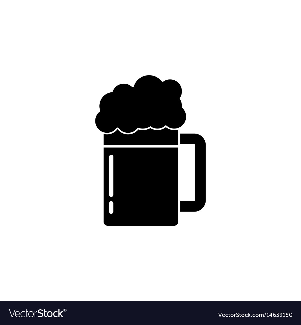 Beer solid icon food drink elements vector image