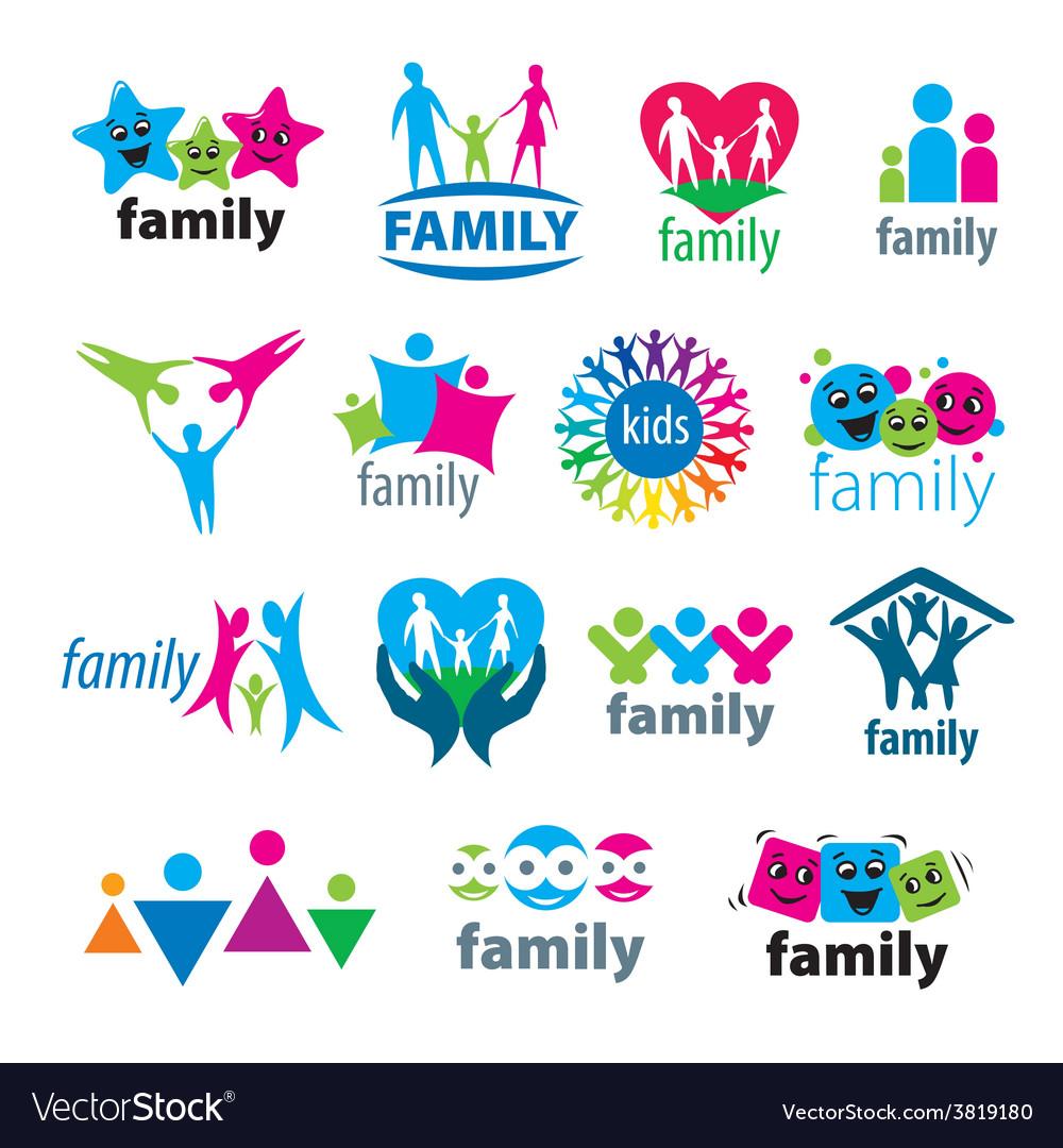 Big set of logos family