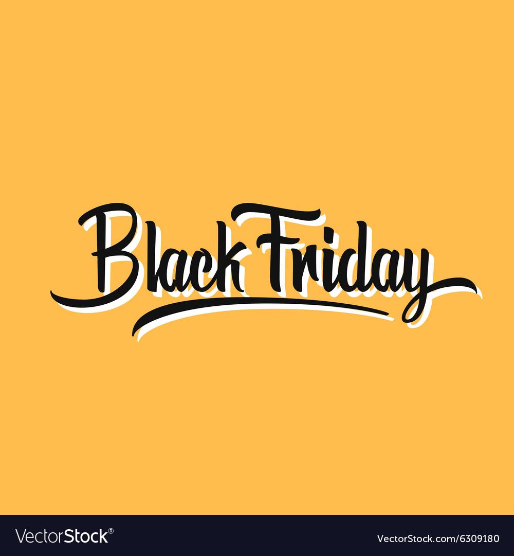 Black Friday Hand Lettering