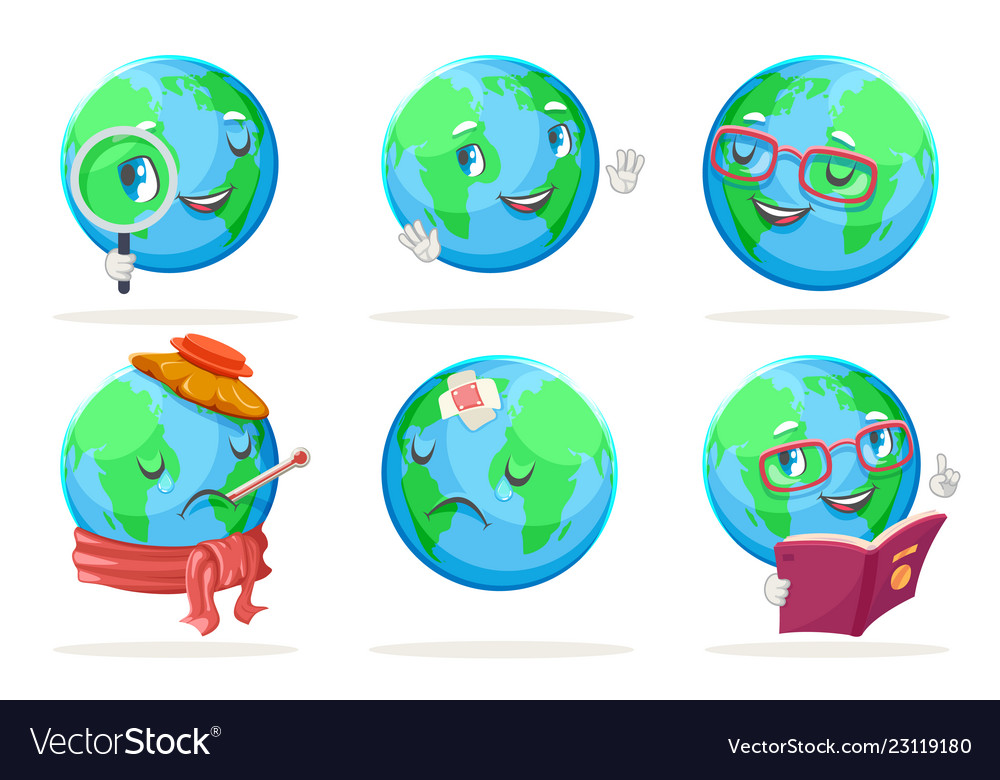 Ecology happy emotion nature earth globe