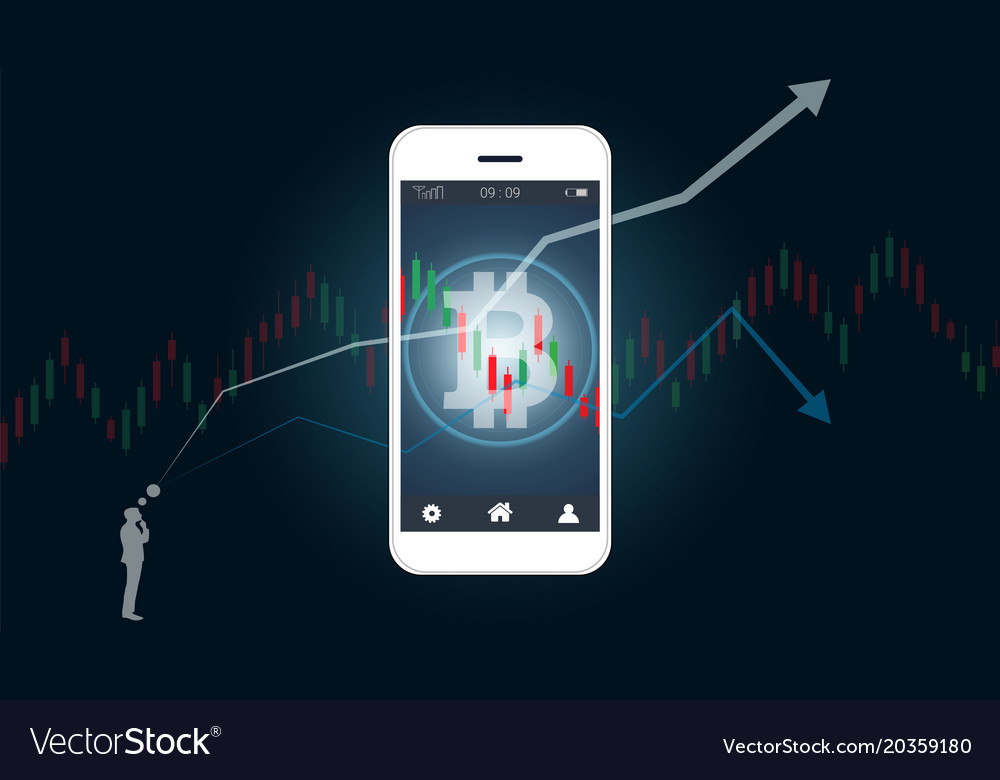 Financial and candlestick graph charts vector image on VectorStock