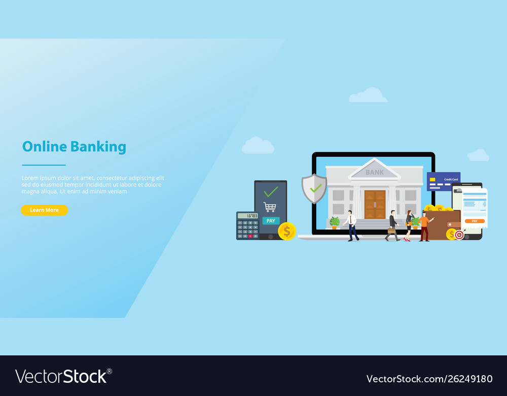 Online banking mobile payment technology concept