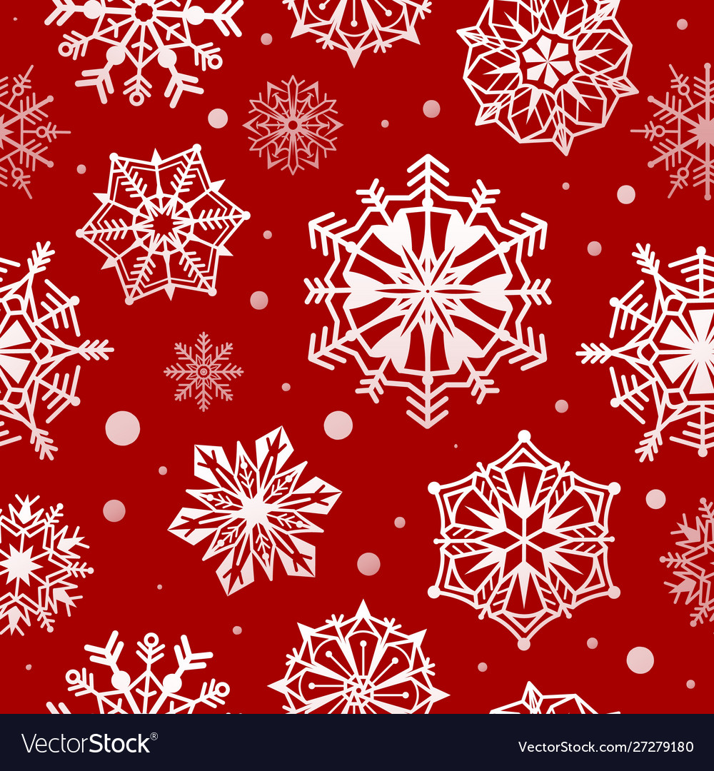 Snowflakes seamless pattern abstract christmas