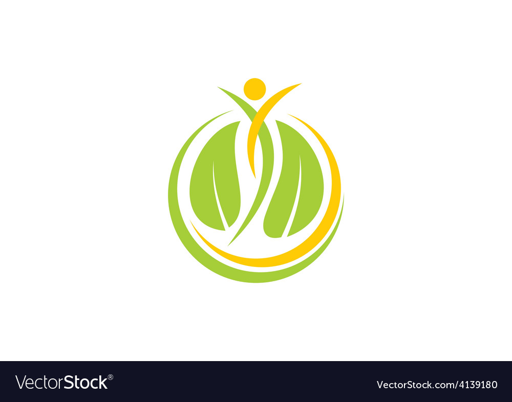 Spa leaf people nature logo