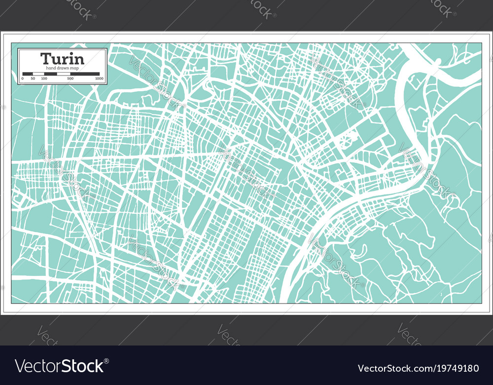 Turin italy city map in retro style outline map vector image altavistaventures Choice Image