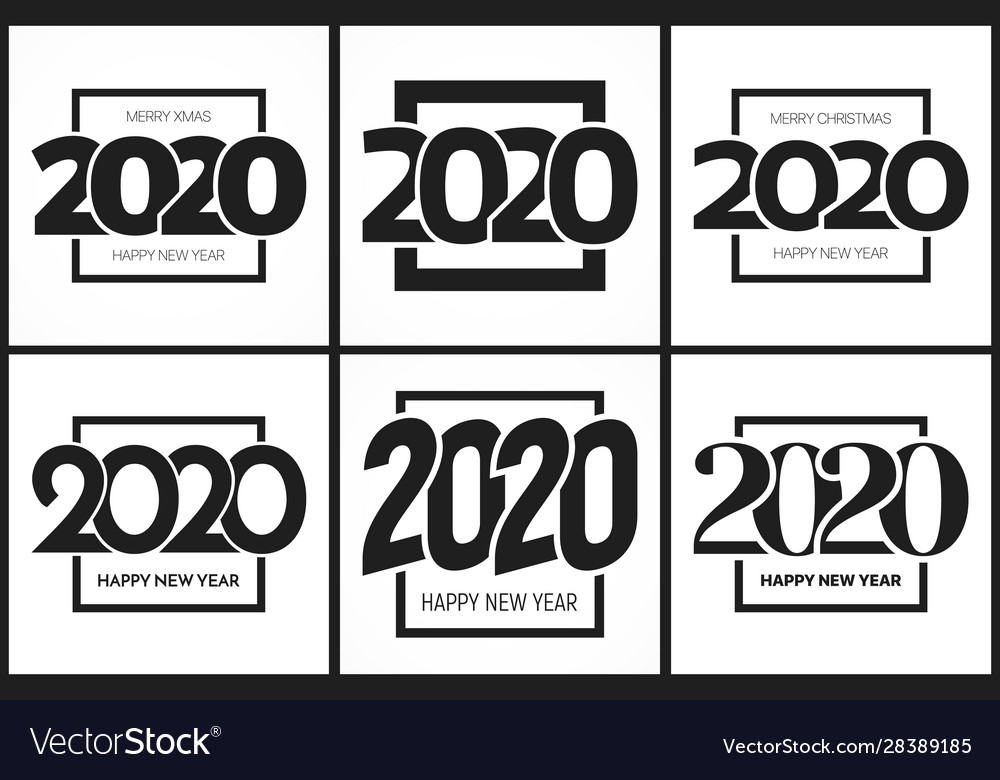 2020 happy new year eve signs design templates