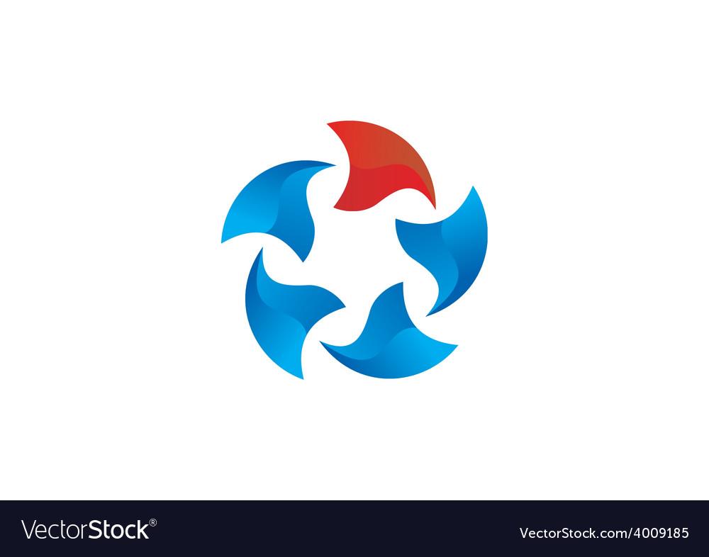 3D circle round abstract logo