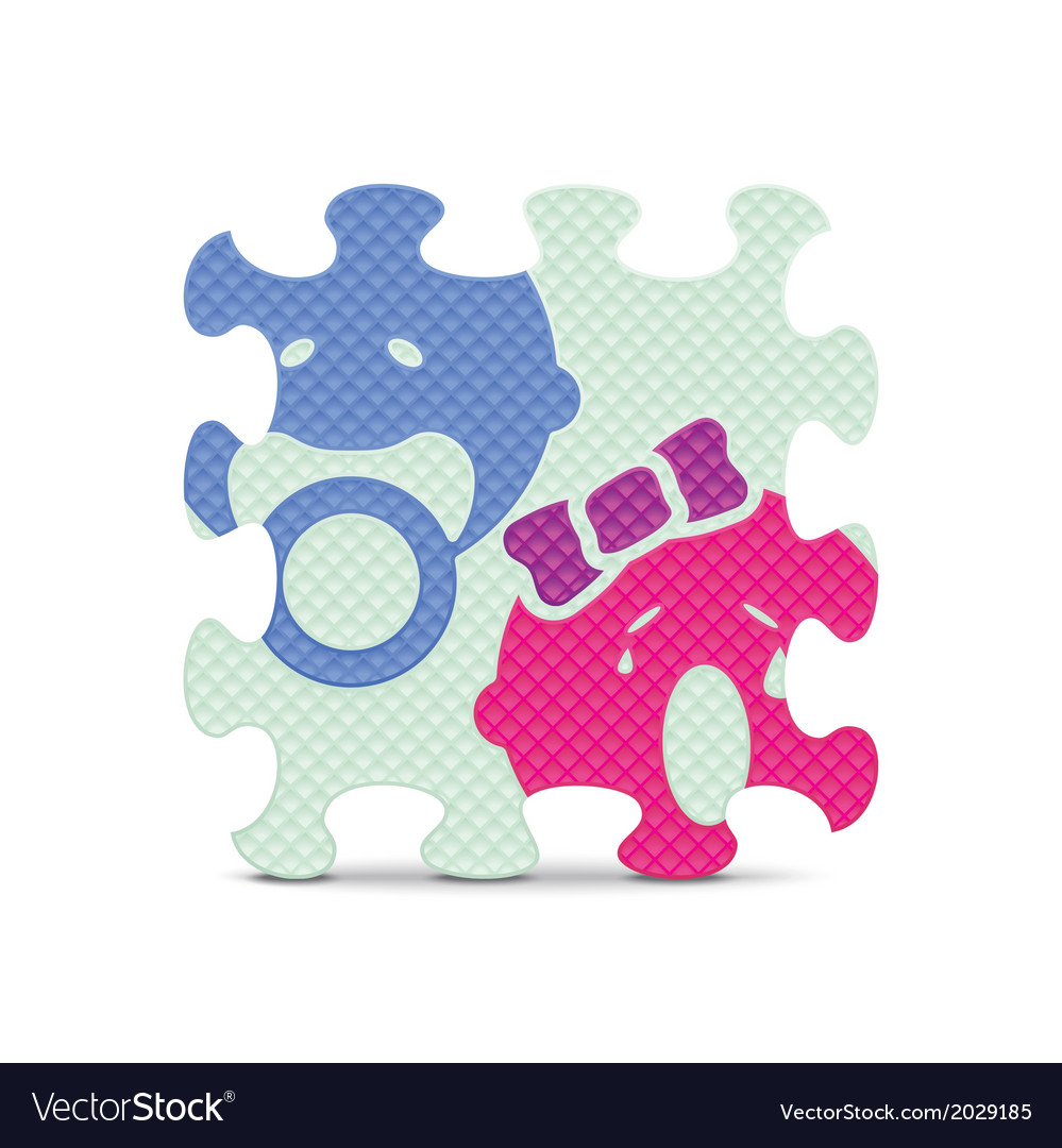 Baby sign made with alphabet puzzle vector image