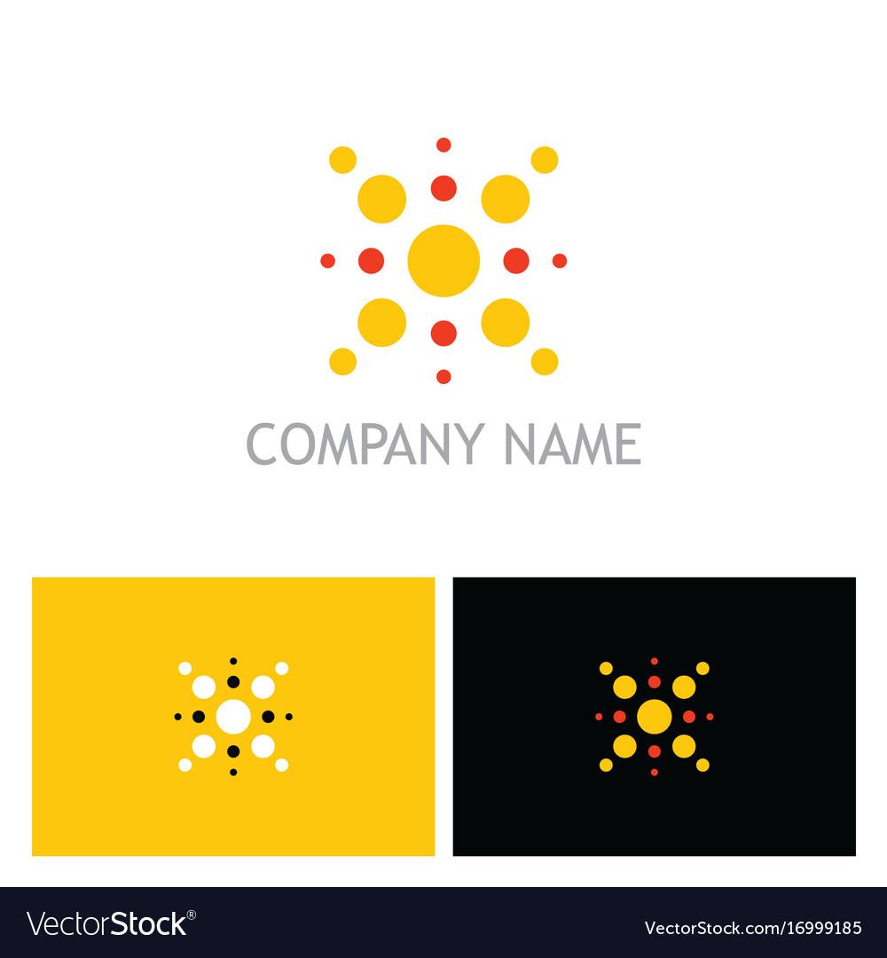 Dot shine geometry logo