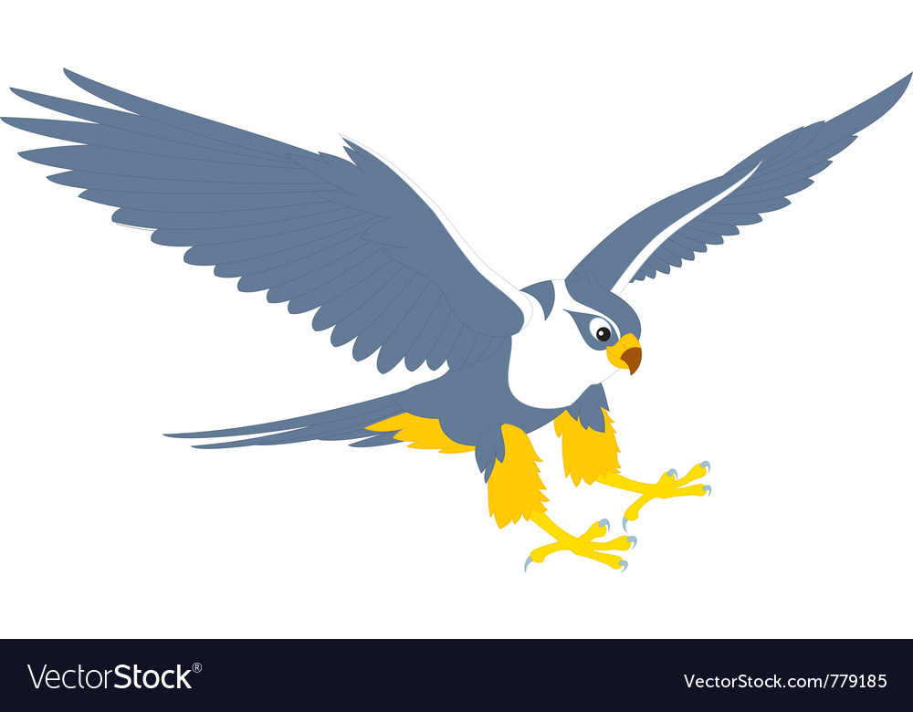 flying falcon clipart