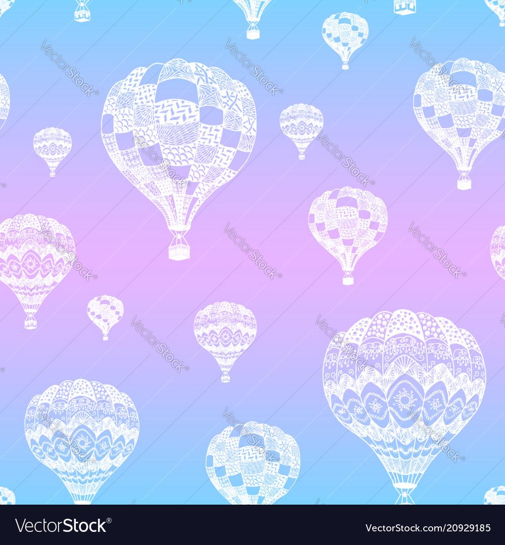Seamless pattern of hot air balloon