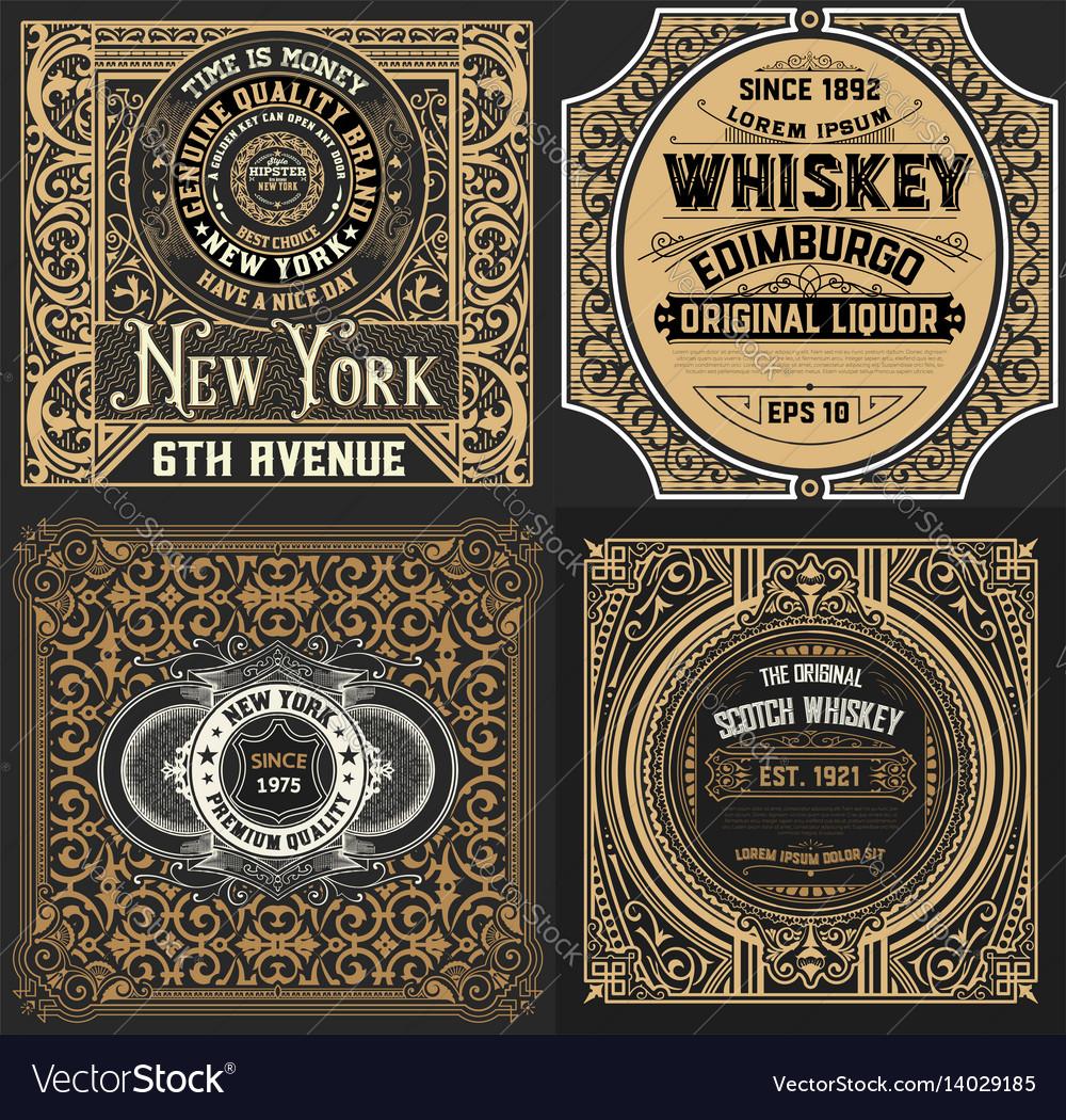 Vintage cards set western style