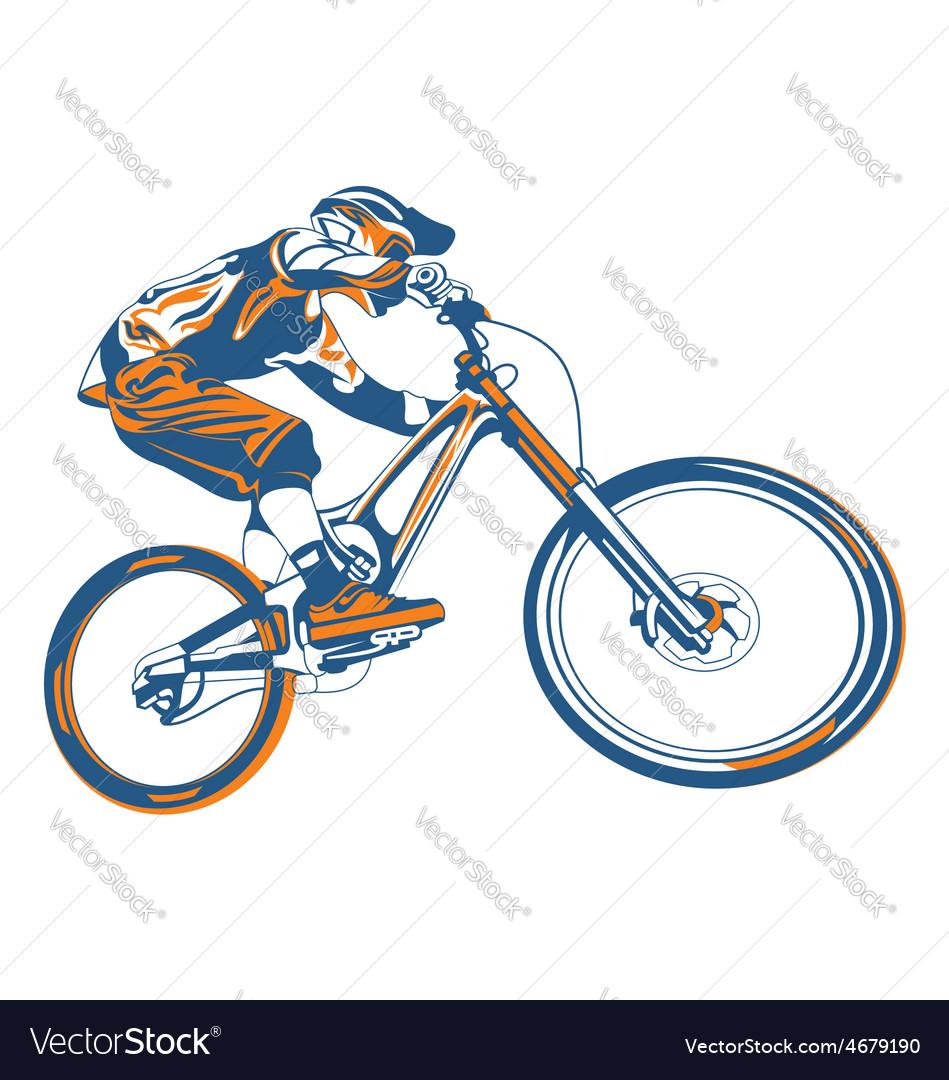 Bike Mountain Royalty Free Vector Image Vectorstock