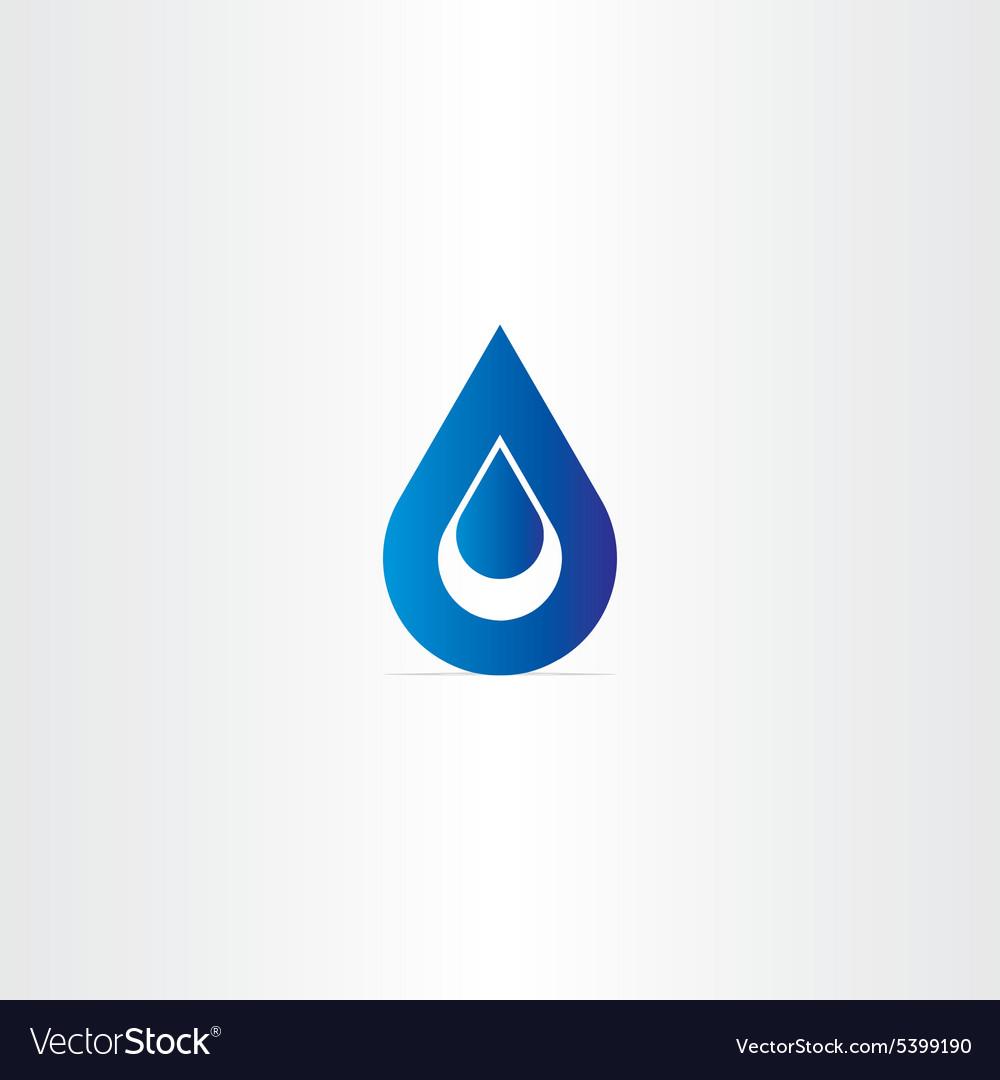 Blue logo drop of water icon vector image
