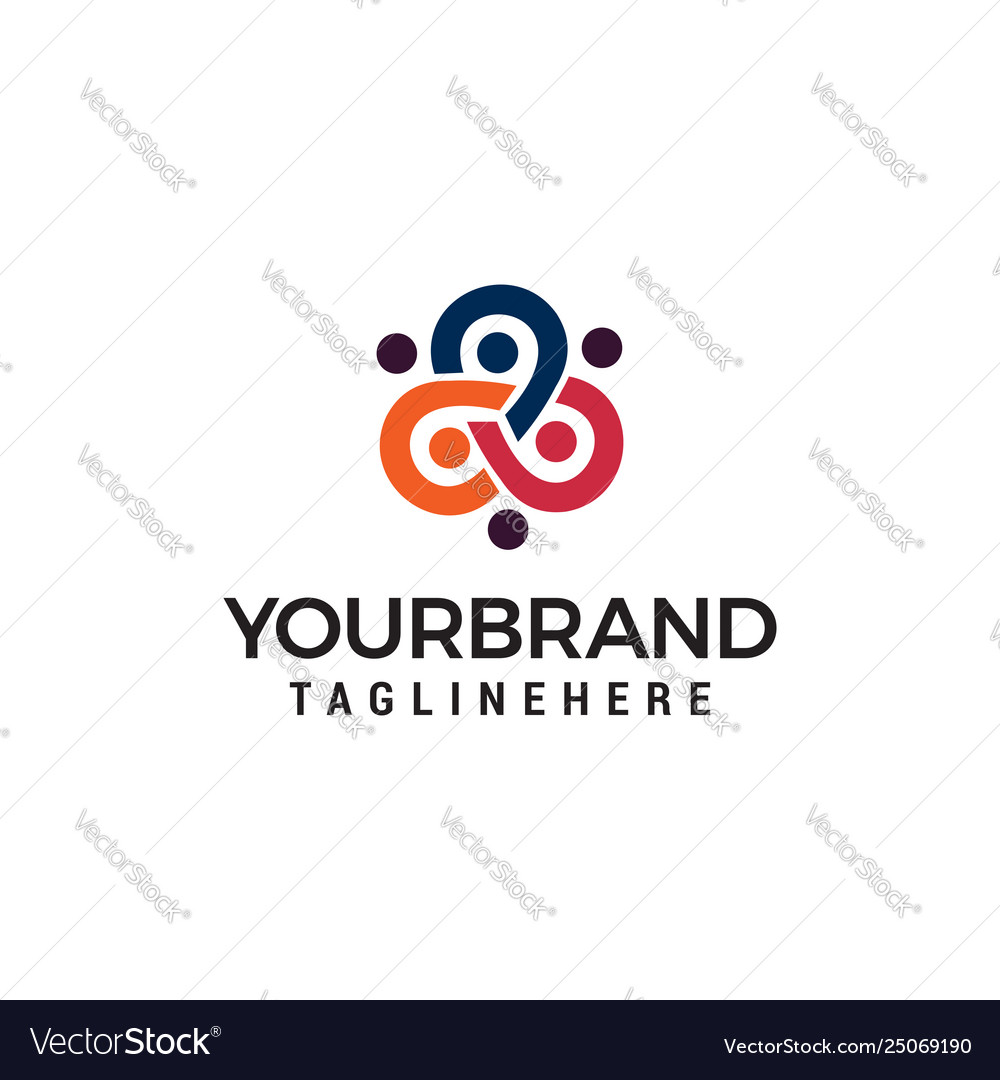 Business people community logo design concept