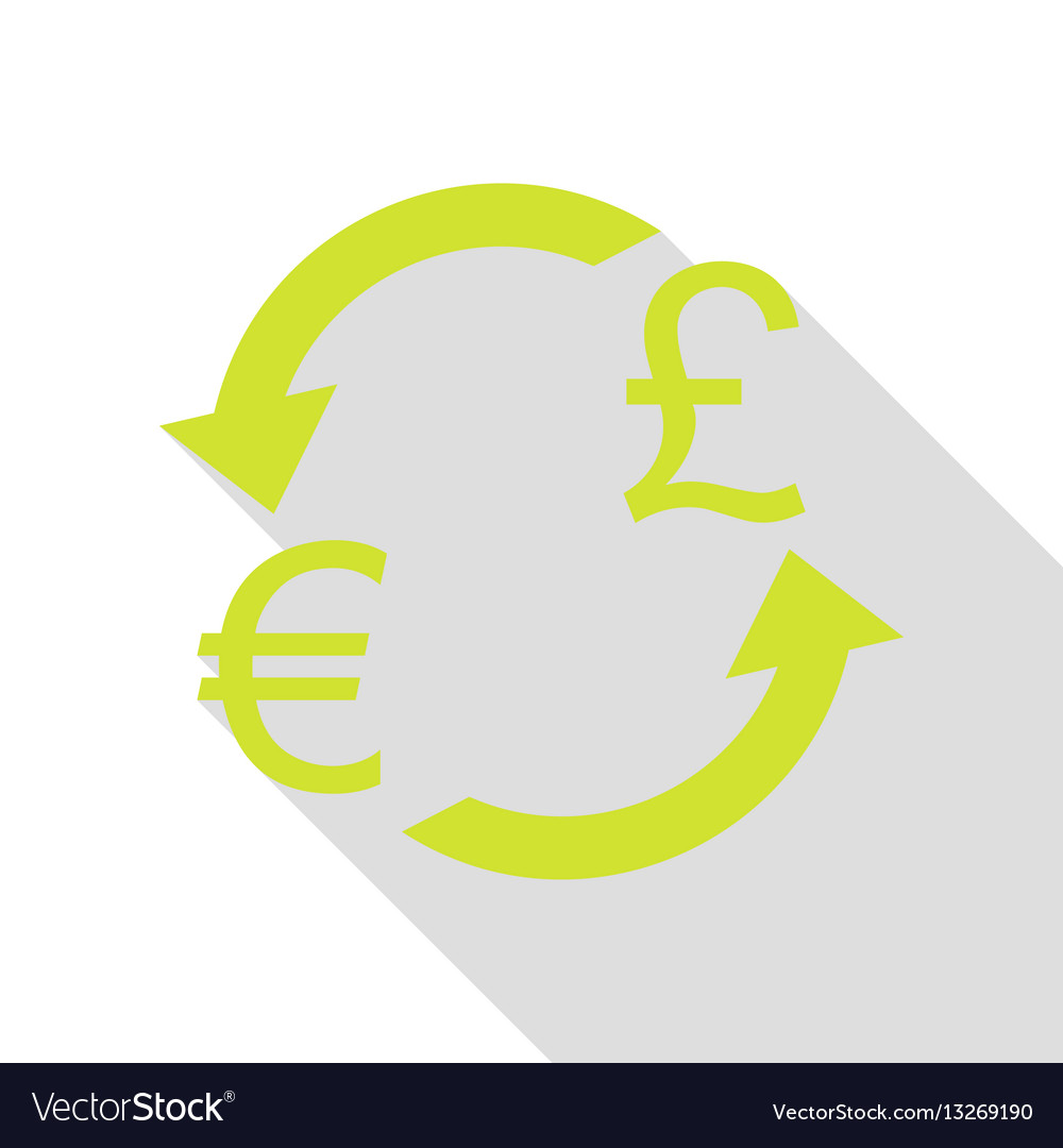 Currency Exchange Sign Euro And Uk Pound Pear Vector Image