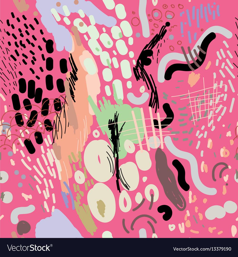 Digital brush strokes seamless pattern