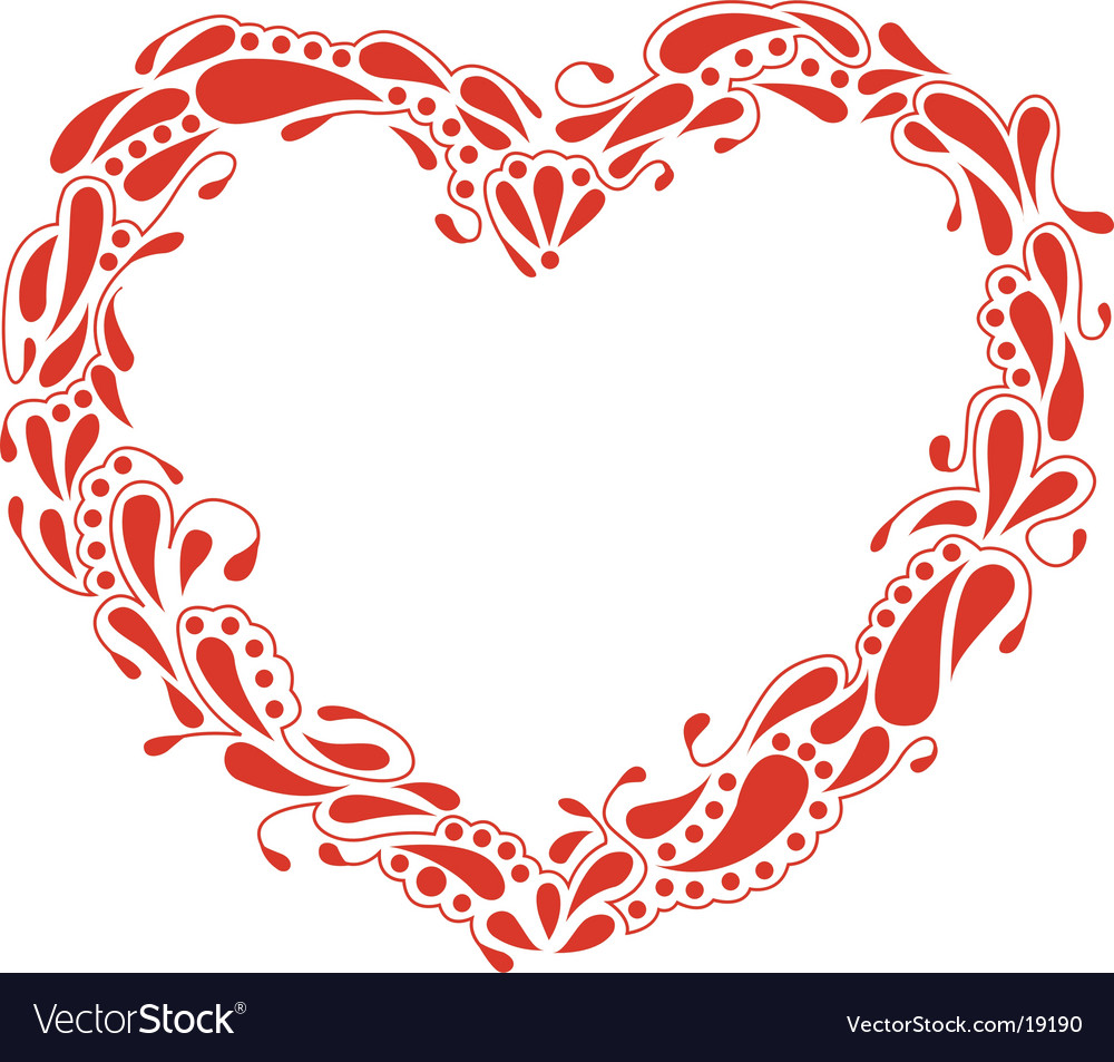 Heart frame Royalty Free Vector Image - VectorStock