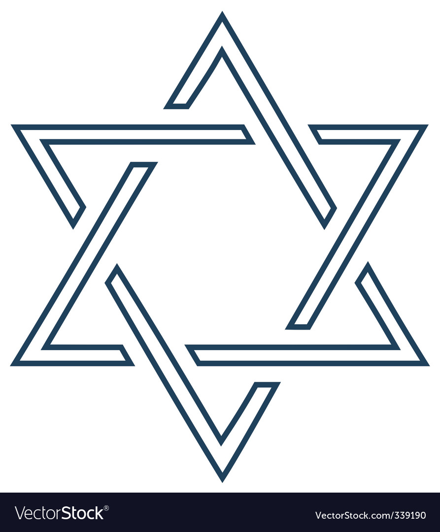 Jewish mage David star design