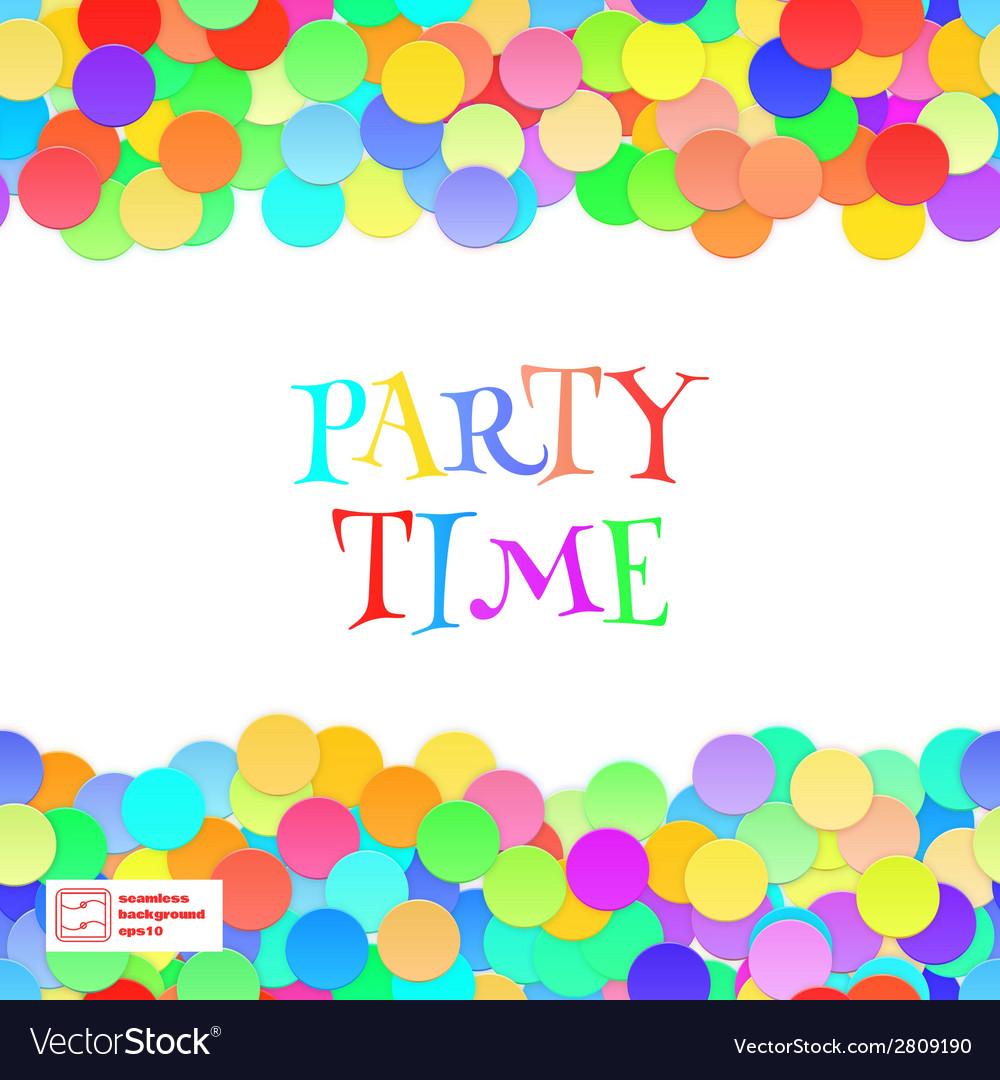 Party Seamless Pattern Confetti