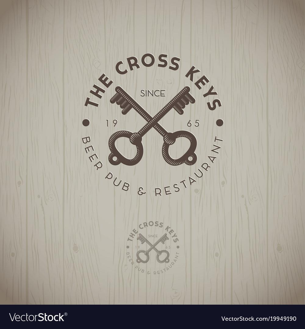 Two cross keys pub logo