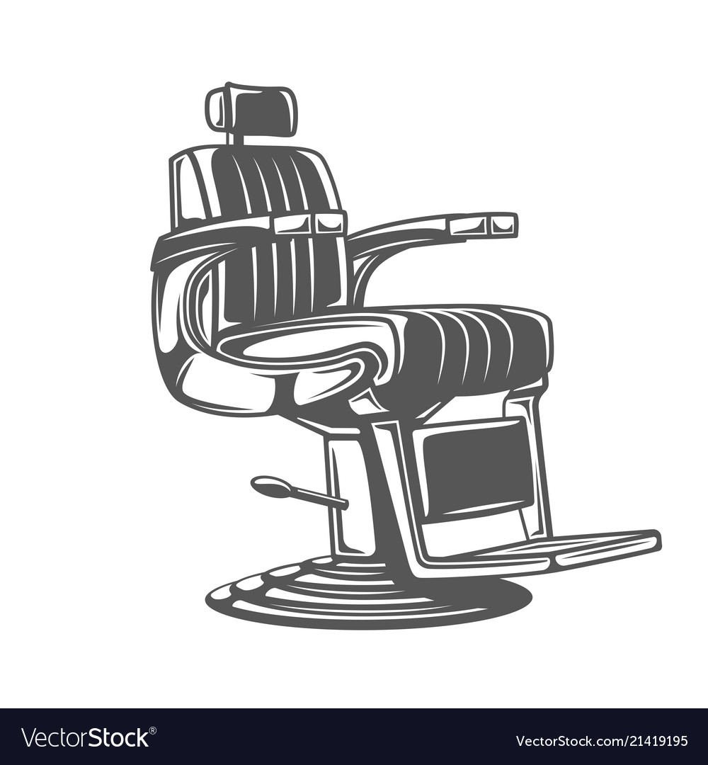 Barber chair isolated on white background