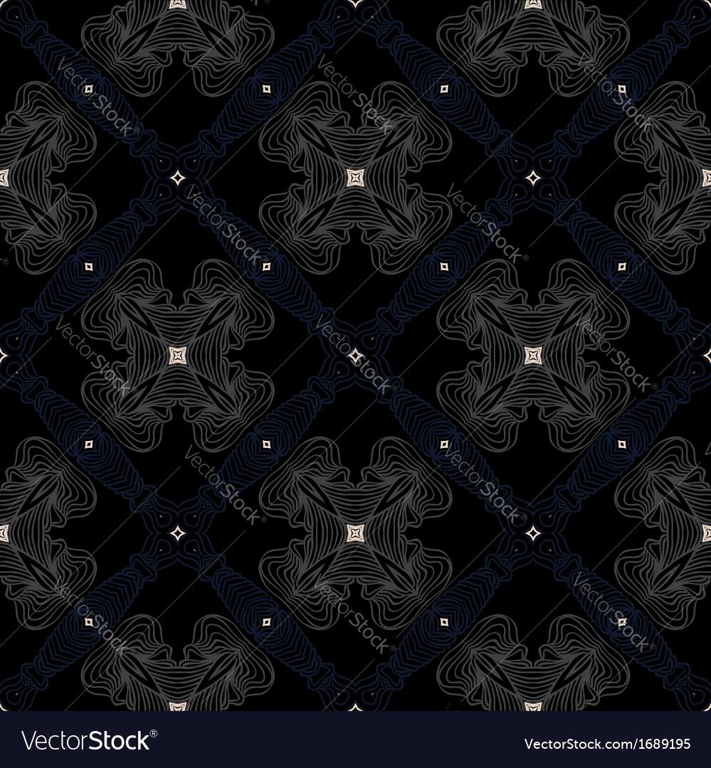 Dark Victorian Floor Cerimic Tiled Pattern Vector Image