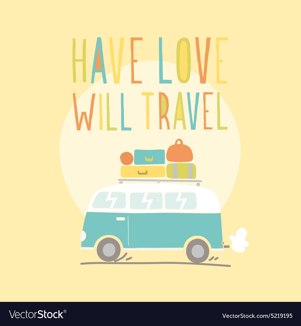 Have love will travel Retro van
