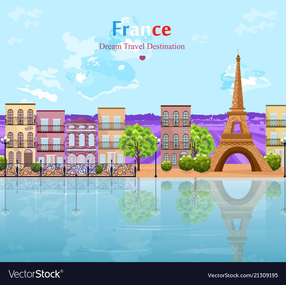 Paris landscape architecture of the city