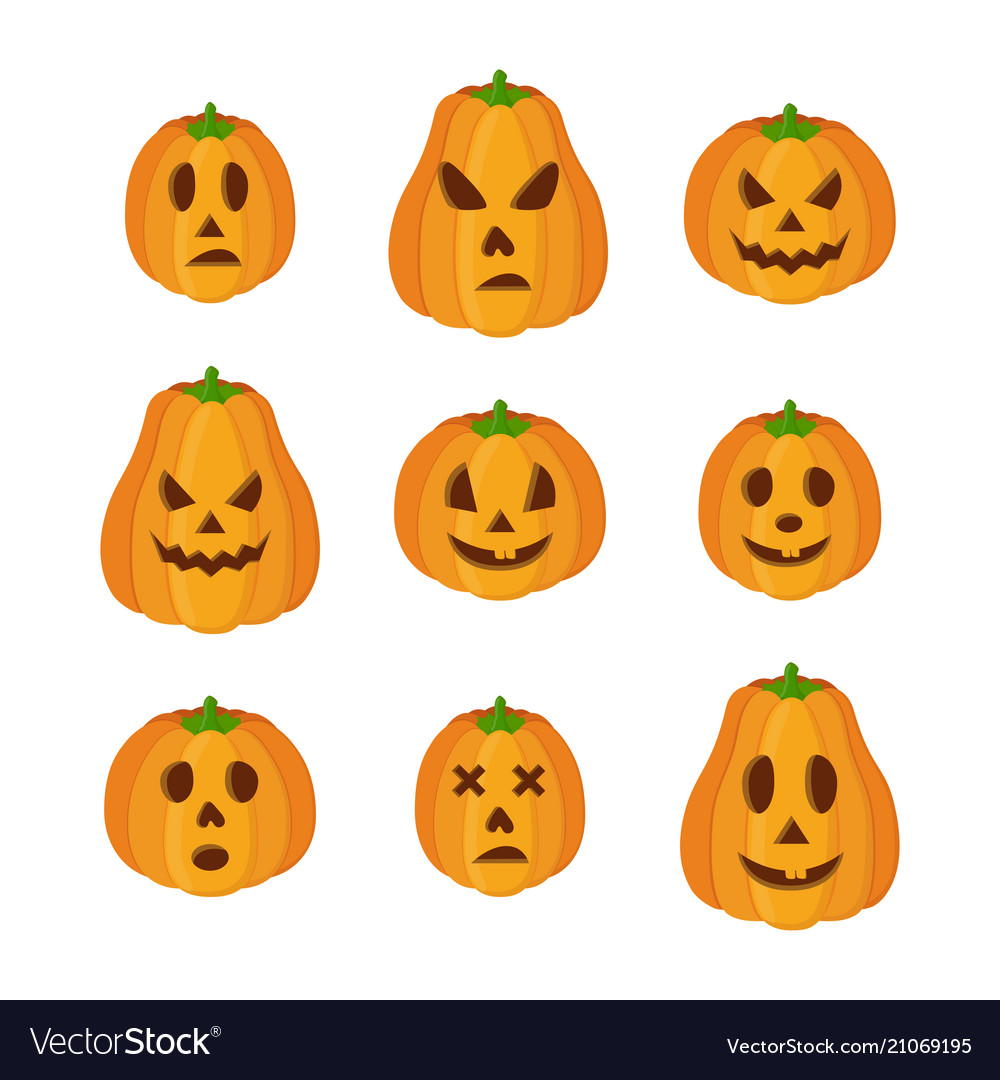 Pumpkins for halloween funny scary faces