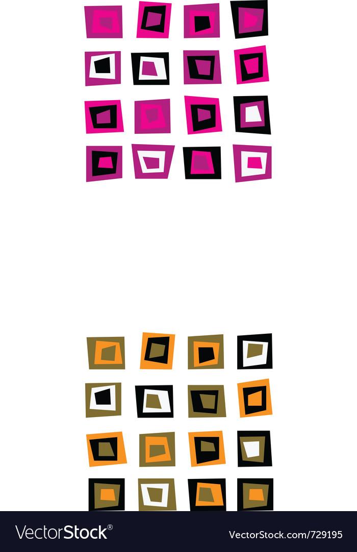 Retro square seamless vector image