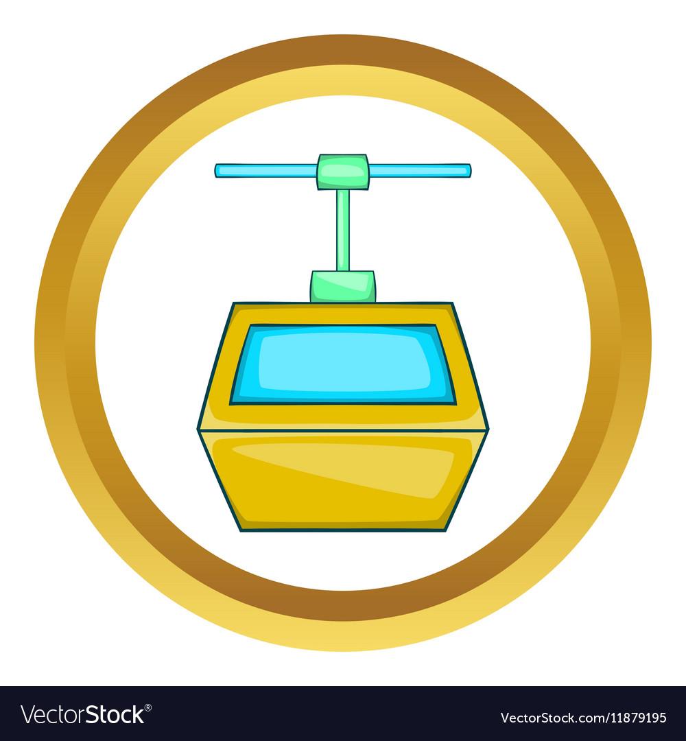 Ski lift gondola icon