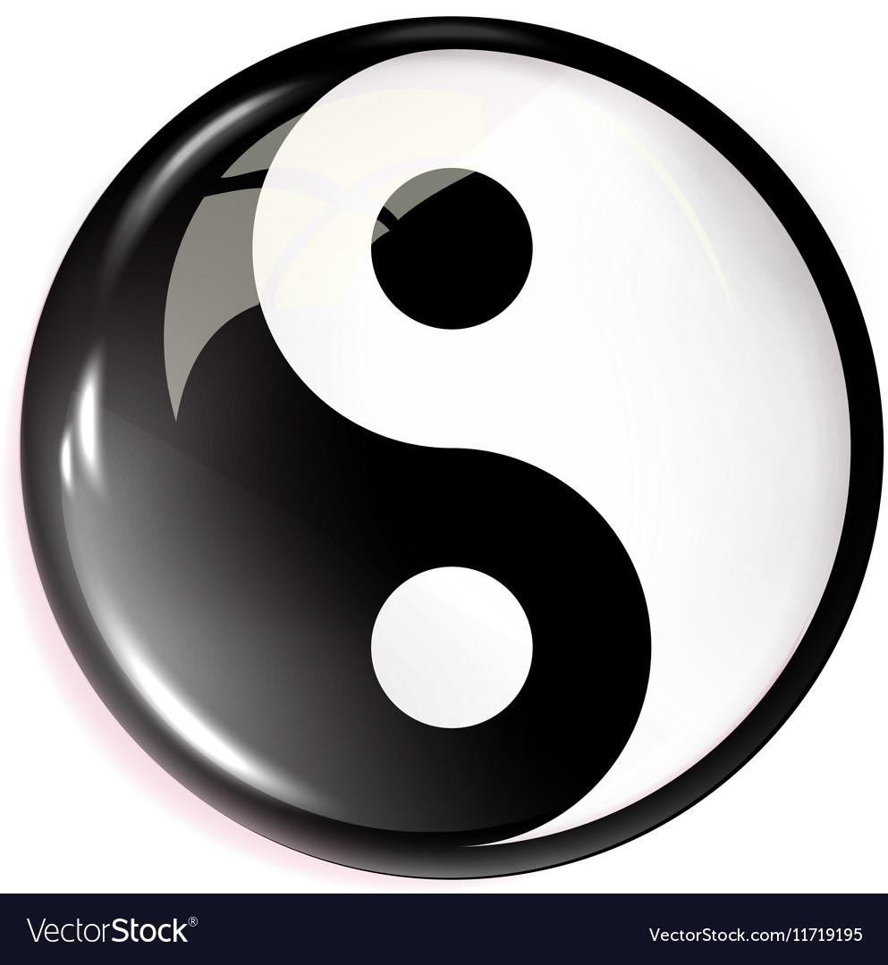 Volumetric image of feng shui Yin Yang Royalty Free Vector