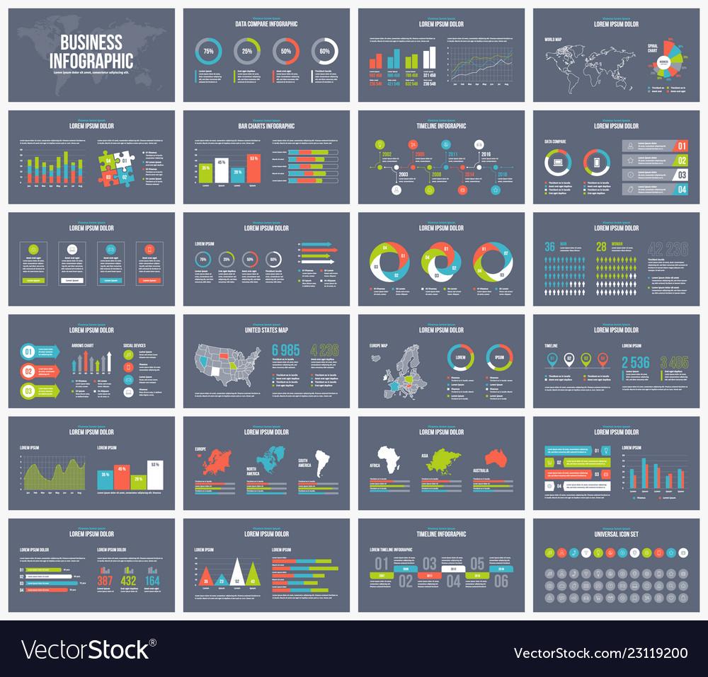 Business dark presentation template