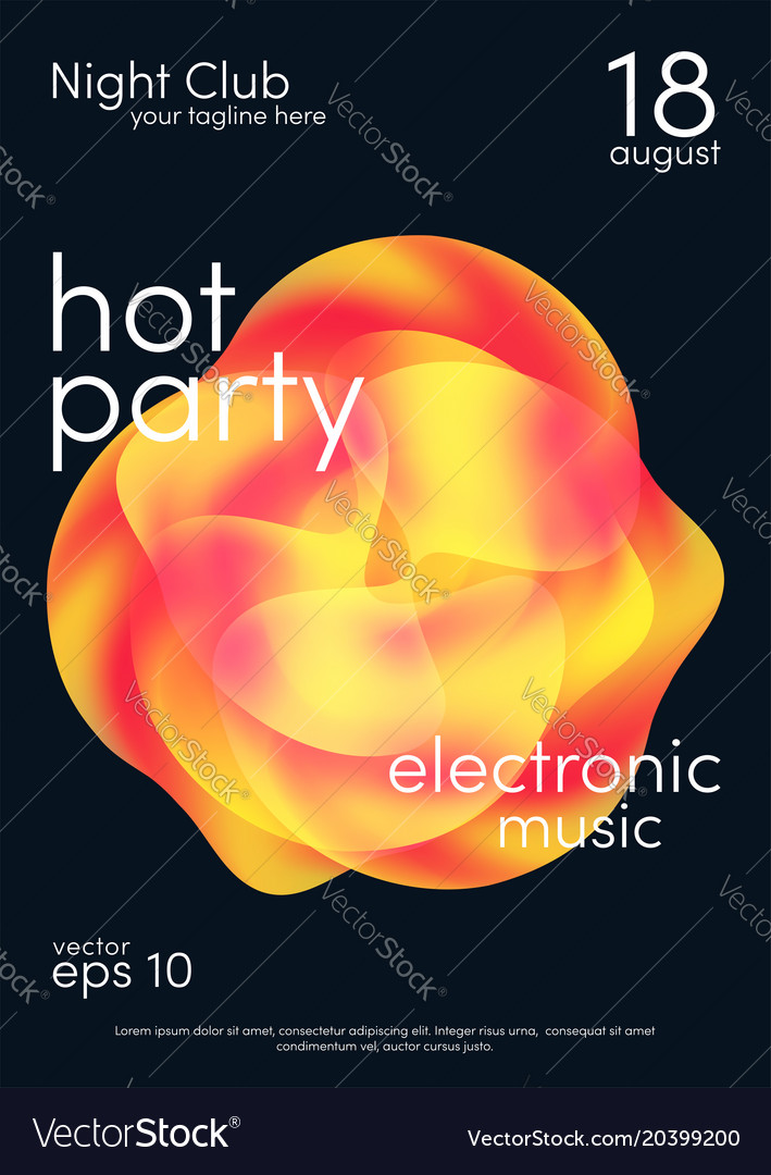 Dance party poster music poster background