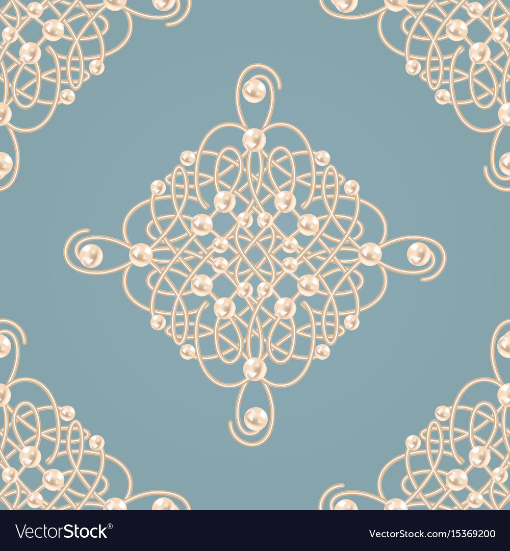 Seamless pattern with ellegant golden knot sign
