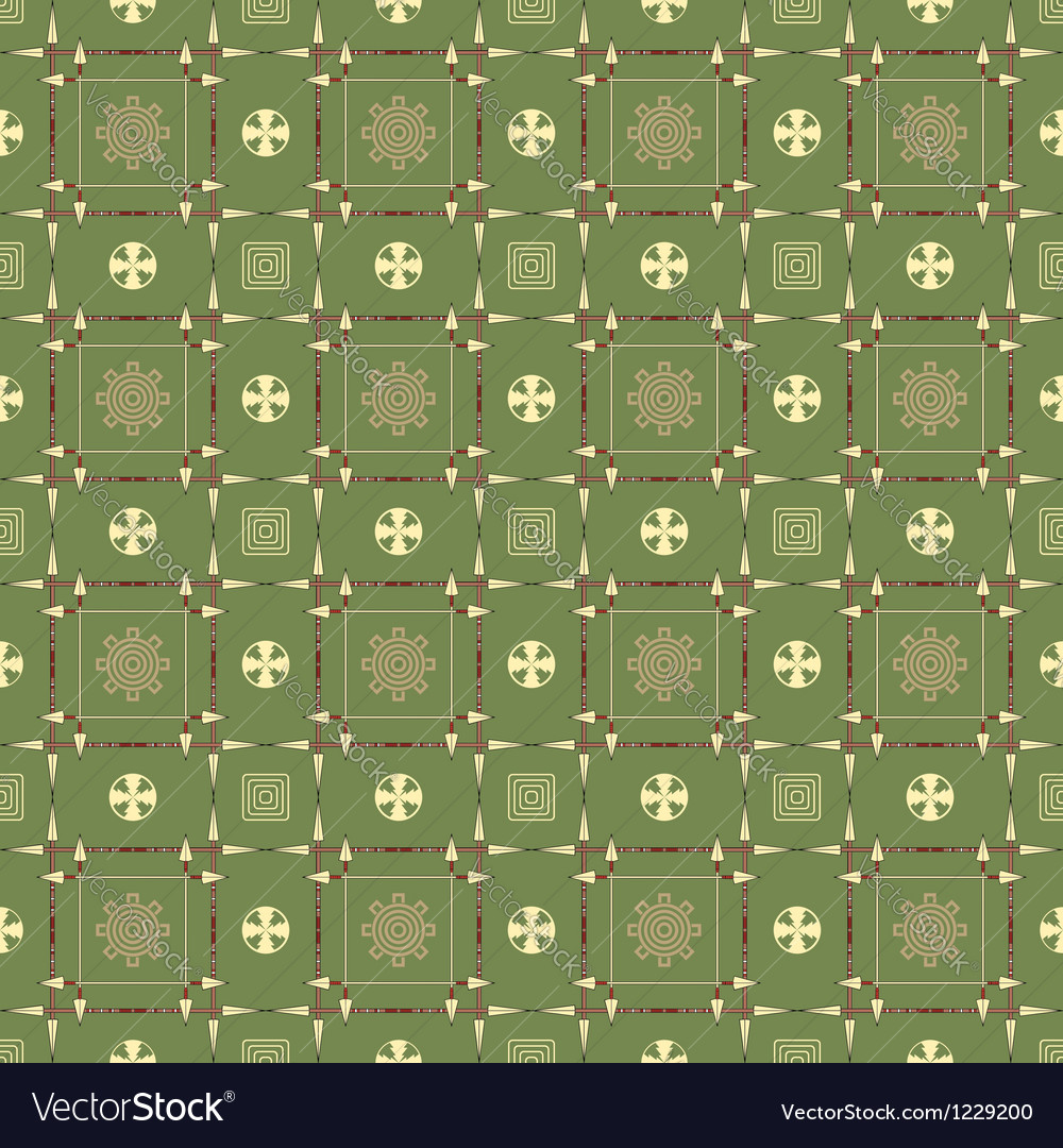 Seamless pattern with spears arrows and symbols