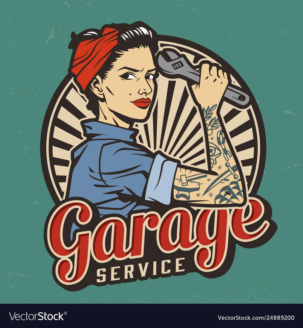 Vintage garage service emblem