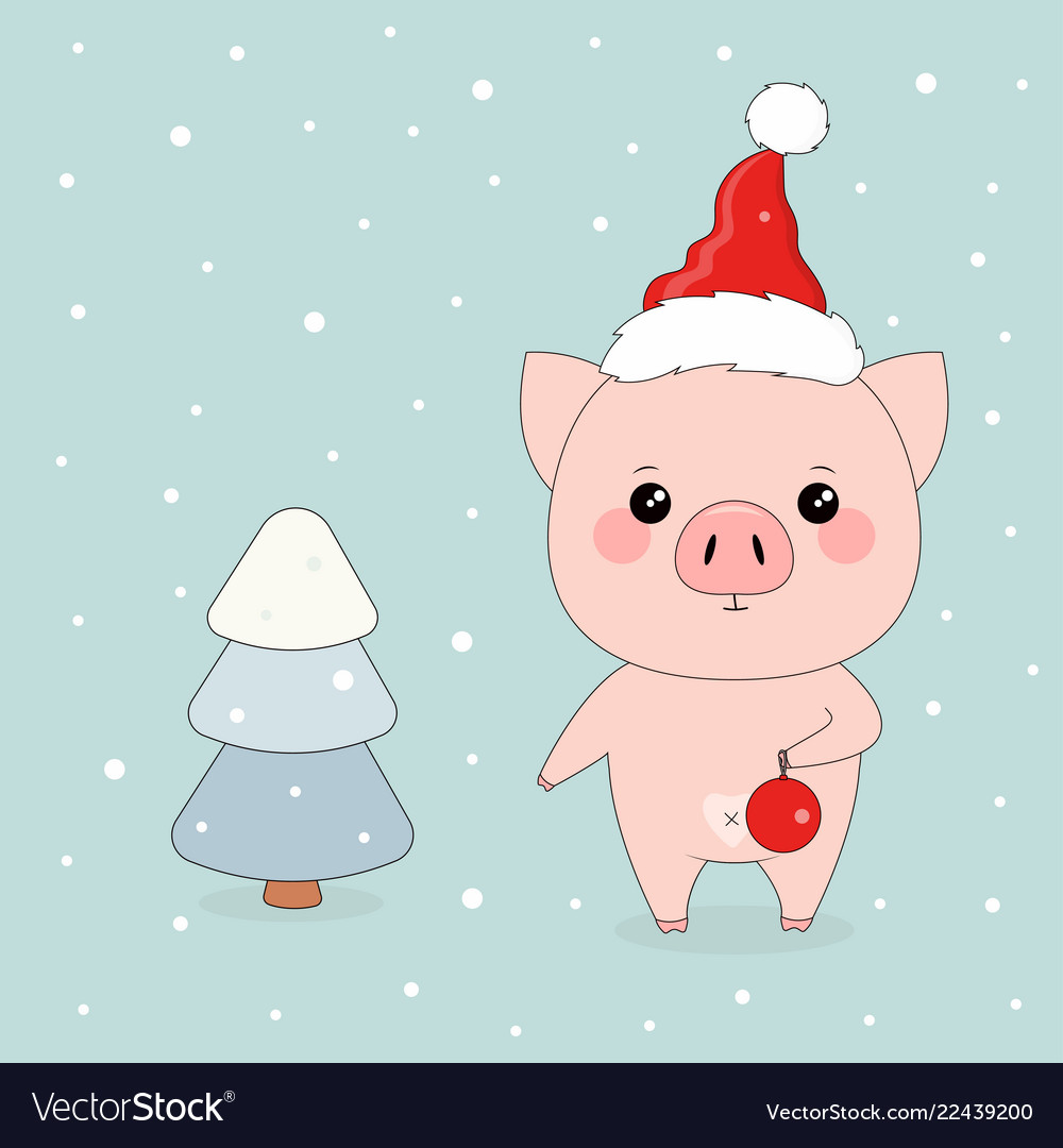 Winter with pigs