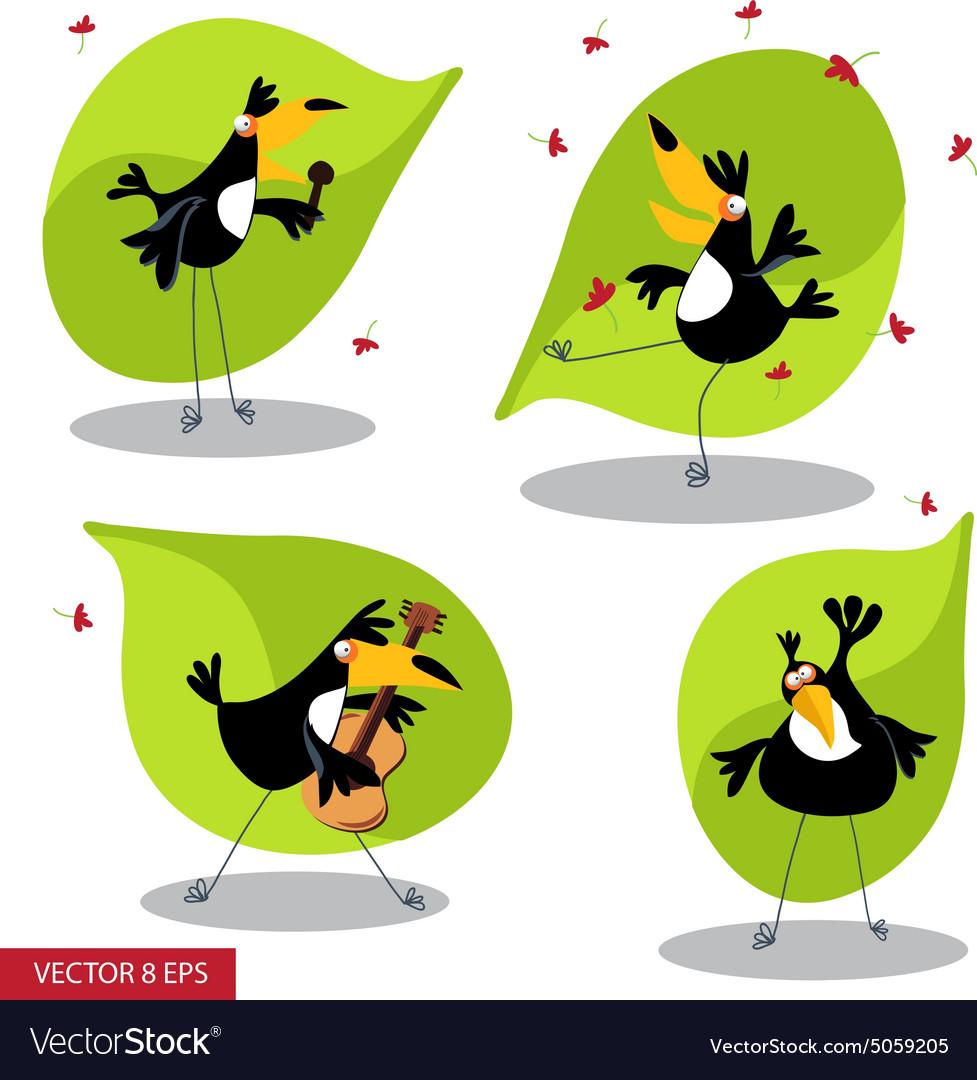 Cartoon toucan